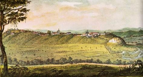 Debret. Vista geral da cidade de São Paulo - 1827