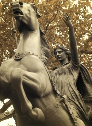 Est[atua de Boadicea. Westminster Bridge, London